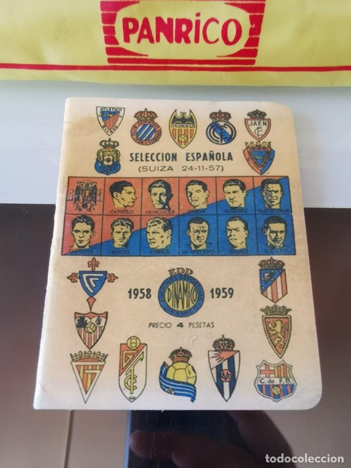 CALENDARIO LIGA FÚTBOL EDICIONES DINÁMICO 1958 1959 (Coleccionismo Deportivo - Documentos de Deportes - Otros)