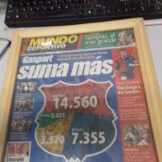 Coleccionismo deportivo: DIARIO MUNDO DEPORTIVO 10 JULIO 2000 GASPART SUMA MAS . Lote 178851736