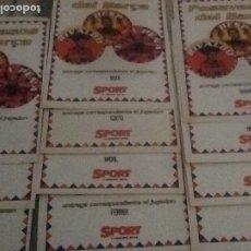 Coleccionismo deportivo: 11 POSAVASOS DEL BARÇA . VER FOTOS.COLECCION SPORT.. Lote 179140123