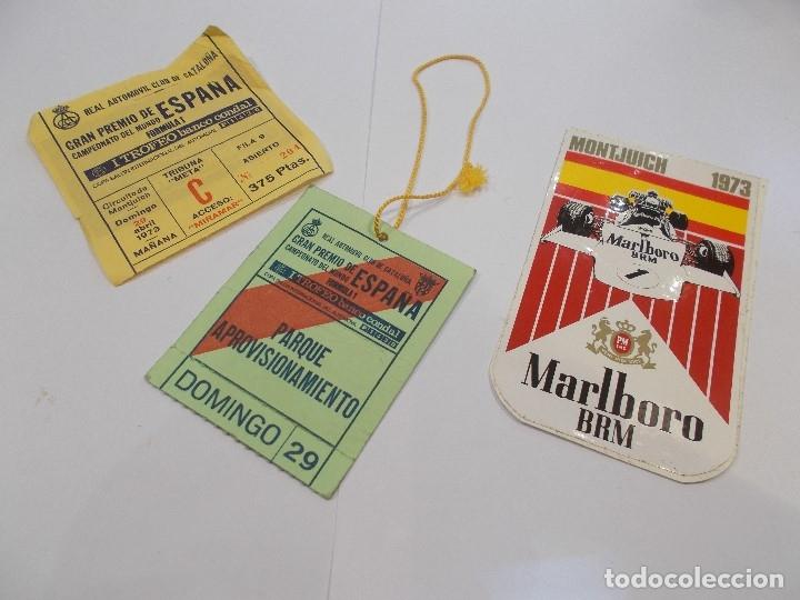 GRAN PREMIO DE ESPAÑA FORMULA 1 MONTJUICH 29 DE ABRIL DE 1973 / PASE, ENTRADA TRIBUNA META.. (G) (Coleccionismo Deportivo - Documentos de Deportes - Otros)