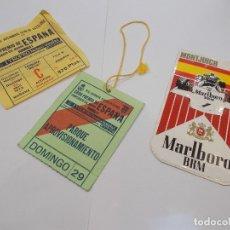 Coleccionismo deportivo: GRAN PREMIO DE ESPAÑA FORMULA 1 MONTJUICH 29 DE ABRIL DE 1973 / PASE, ENTRADA TRIBUNA META.. (G). Lote 179403528