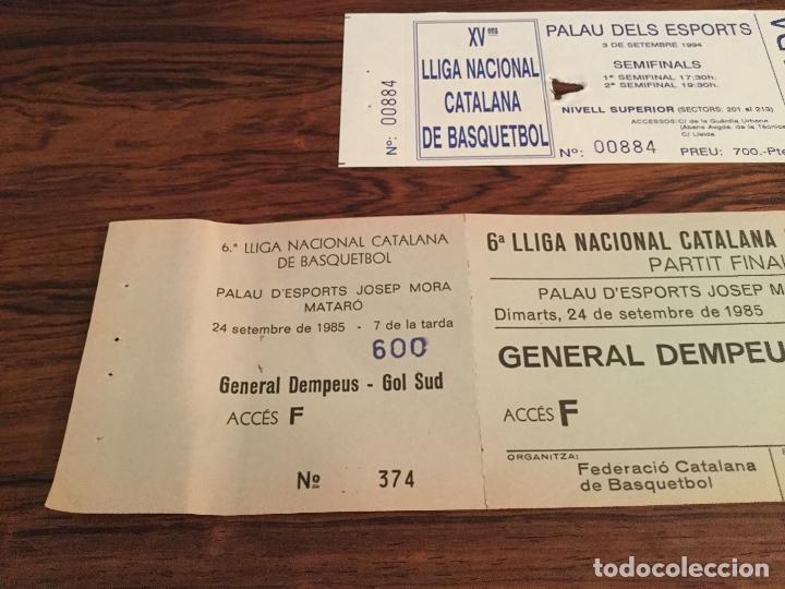 Coleccionismo deportivo: ENTRADA FINAL LLIGA CATALANA BALONCESTO BASQUETBOL 1985, CAMPEON FC BARCELONA, JOVENTUT BADALONA - Foto 2 - 179942633