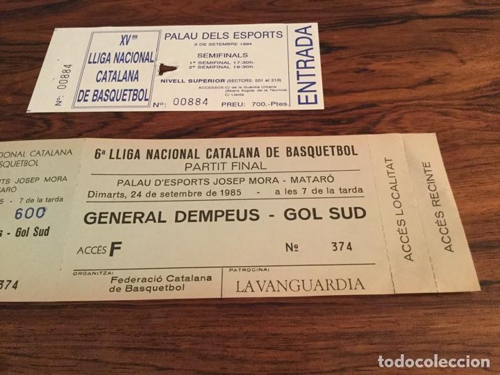 Coleccionismo deportivo: ENTRADA FINAL LLIGA CATALANA BALONCESTO BASQUETBOL 1985, CAMPEON FC BARCELONA, JOVENTUT BADALONA - Foto 3 - 179942633