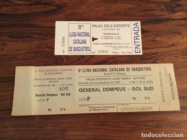 ENTRADA FINAL LLIGA CATALANA BALONCESTO BASQUETBOL 1985, CAMPEON FC BARCELONA, JOVENTUT BADALONA (Coleccionismo Deportivo - Documentos de Deportes - Otros)