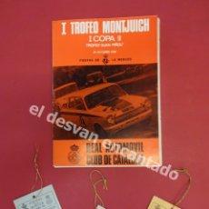 Coleccionismo deportivo: I TROFEO MONTJUICH. 23 OCTUBRE 1966. RACC. CATÁLOGO Y ACREDITACIONES ORIGINALES. Lote 180006620