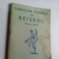 Coleccionismo deportivo: REGLAMENTO DE BEISBOL 1956 BASE-BALL. Lote 180482977