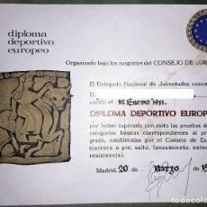 Coleccionismo deportivo: DIPLOMA DEPORTIVO EUROPEO 1973. Lote 180497682