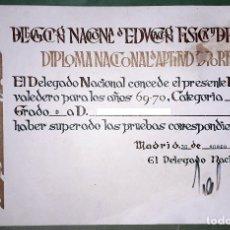 Coleccionismo deportivo: DIPLOMA NACIONAL DE APTITUD DEPORTIVA (1970). Lote 180498342