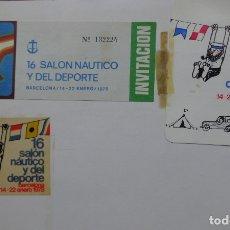 Coleccionismo deportivo: PASE PRENSA 16 SALÓN NÁUTICO Y DEL DEPORTE BARCELONA - 1978 - + INVITACIÓN + PEGATINA (USADA). Lote 181405921