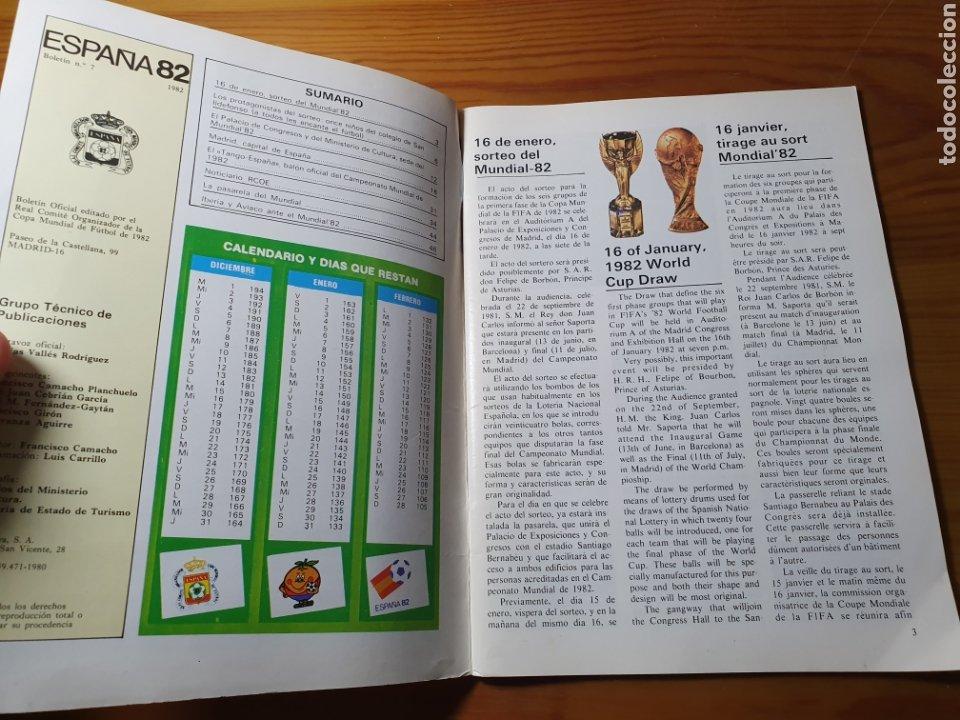Coleccionismo deportivo: Boletín del RCOE España 82 - Copa Mundial de Fútbol 1982 - Foto 2 - 183014233