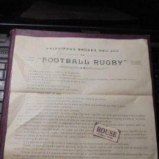 Coleccionismo deportivo: RUGBY - 1920/1930 UNO DE LOS PRIMEROS REGLAMENTOS . PRINCIPALS REGLES DEL JOC ''FOOTBALL RUGBY''. Lote 184084193