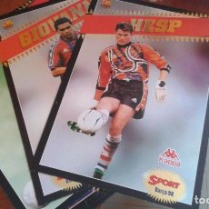 Coleccionismo deportivo: POSTALES GIGANTES DEL BARÇA 97-98. Lote 184108191