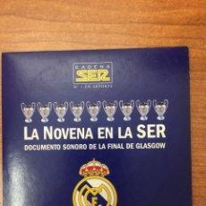 Coleccionismo deportivo: LA NOVENA COPA DE EUROPA DEL REAL MADRID. DOCUMENTO SONORO. Lote 184276928
