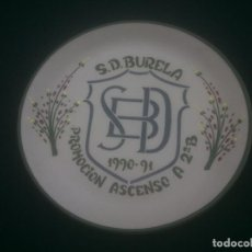 Coleccionismo deportivo: PLATO FUTBOL SOCIEDAD DEPORTIVA BURELA LUGO . Lote 184318428