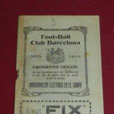 Coleccionismo deportivo: (M) FC BARCELONA - PROGRAMA OFICIAL FC BARCELONA - CATALUÑA SC 1914 INAUGURACIÓN ELÉCTRICA DEL CAMPO. Lote 184364850