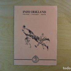 Coleccionismo deportivo: FOLLETO INFORMATIVO FEDERACION HOLANDESA DE FUTBOL 1980. Lote 184368983