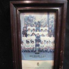 Coleccionismo deportivo: RECUERDO ENMARCADO REAL MADRID 1974/1975. Lote 187155373