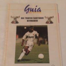 Coleccionismo deportivo: REAL MADRID MILÁN PROGRAMA TROFEO BERNABEU 1999. Lote 187665413