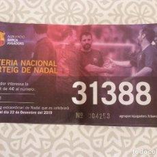Coleccionismo deportivo: LOTERIA NAVIDAD 2019-PARTICIPACIÓN CON MOTIVOS F.C.BARCELONA-BARÇA-. Lote 189077272