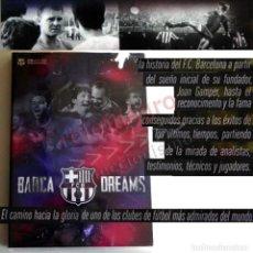 Coleccionismo deportivo: DVD BARÇA DREAMS EL BARCELONA FC SOÑADO HISTORIA DE FCB FÚTBOL CLUB DEPORTE JOHAN CRUYFF XAVI MESSI. Lote 189353042