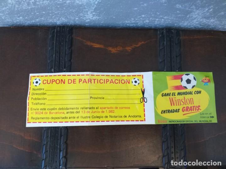 ANTIGUO CUPON WINSTON MUNDIAL DE FUTBOL ESPAÑA 82 NARANJITO MUY RARO!!!!!!!! (Coleccionismo Deportivo - Documentos de Deportes - Otros)