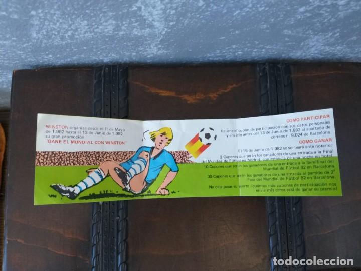 Coleccionismo deportivo: antiguo cupon winston mundial de futbol españa 82 naranjito MUY RARO!!!!!!!! - Foto 2 - 190462708