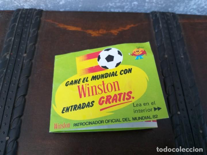 Coleccionismo deportivo: antiguo cupon winston mundial de futbol españa 82 naranjito MUY RARO!!!!!!!! - Foto 3 - 190462708
