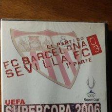 Coleccionismo deportivo: LOTE DOS DVD SEVILLA FC CAMPEÓN SUPERCOPA EUROPA 2006 Y CAMPEÓN UEFA 2006 . PRECINTADA. Lote 190596067