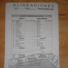 Coleccionismo deportivo: LOTE 80 HOJAS OFICIALES ALINEACIONES CÁDIZ CF (2008-2013). Lote 190957720