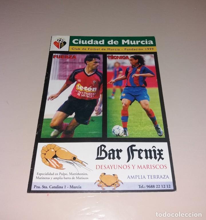 PROGRAMA CIUDAD DE MURCIA VS FÚTBOL CLUB BARCELONA. COPA REY 2003 03 2004 04 (Coleccionismo Deportivo - Documentos de Deportes - Otros)