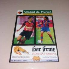 Coleccionismo deportivo: PROGRAMA CIUDAD DE MURCIA VS FÚTBOL CLUB BARCELONA. COPA REY 2003 03 2004 04. Lote 191417765