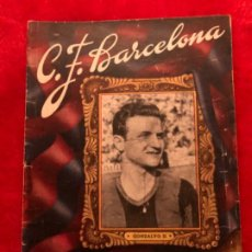 Coleccionismo deportivo: CF BARCELONA BARÇA BOLETIN PARTIDO VS REAL MADRID 9 ENERO 1949. Lote 191483153