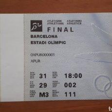 Colecionismo desportivo: ENTRADA FINAL ATLETISMO BARCELONA 92 OLIMPIADAS. Lote 191693916