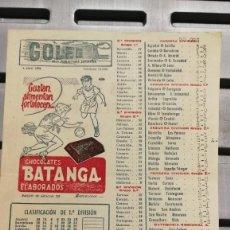 Coleccionismo deportivo: GOLES HOJA PUBLICITARIA DEPORTIVA 4 ABRIL 1954. Lote 191836018