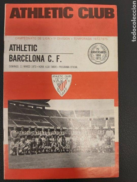 PROGRAMA ATHLETIC-BARCELONA (Coleccionismo Deportivo - Documentos de Deportes - Otros)