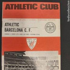 Coleccionismo deportivo: PROGRAMA ATHLETIC-BARCELONA. Lote 191883785