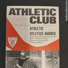 Coleccionismo deportivo: PROGRAMA ATHLETIC-ATLETICO DE MADRID. Lote 191884321