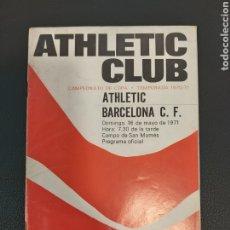 Coleccionismo deportivo: PROGRAMA ATHLETIC-BARCELONA. Lote 191884607