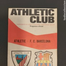 Coleccionismo deportivo: PROGRAMA ATHLETIC-BARCELONA. Lote 191884970