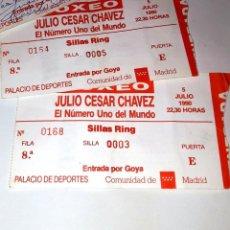 Coleccionismo deportivo: ENTRADAS DE BOXEO GRAN GALA INTERNACIONAL - JULIO CESAR CHAVEZ - AÑO 1990 - IDEAL COLECCIONISTAS. Lote 191891941