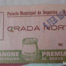 Colecionismo desportivo: ANTIGUA ENTRADA.BOXEO.PALACIO DE DEPORTES.LEGRÁ.ROBINSON GARCIA.CHUK ANDERSON.EVAN ARMSTRONG 1970. Lote 192112136