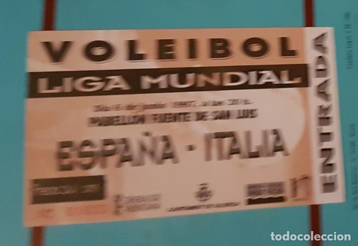 Coleccionismo deportivo: Entrada partido Voleibol España - Italia. Año 1997 - Foto 2 - 192597180