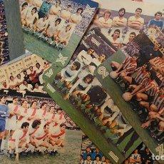 Collectionnisme sportif: LOTE 12 ALINEACIONES DE FUTBOL UN X DOS TAMAÑO CALENDARIO DE BOLSILLO AÑOS 80. Lote 193420118