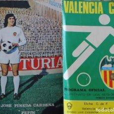 Coleccionismo deportivo: PROGRAMA OFICIAL LIGA 1973 1974. PARTIDO ELCHE CF VS VALENCIA FC. 28 PAG. 40GR. Lote 194013433