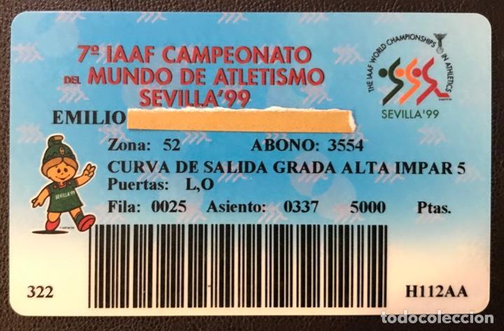 CARNET DEL 7º IAAF CAMPEONATO DEL MUNDO DE ATLETISMO SEVILLA 99 - ABONO DE 5000 PTAS - AÑO 1999 (Coleccionismo Deportivo - Documentos de Deportes - Otros)