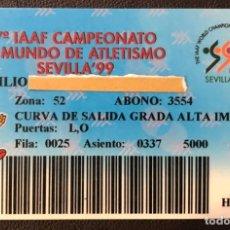 Coleccionismo deportivo: CARNET DEL 7º IAAF CAMPEONATO DEL MUNDO DE ATLETISMO SEVILLA 99 - ABONO DE 5000 PTAS - AÑO 1999. Lote 194227488
