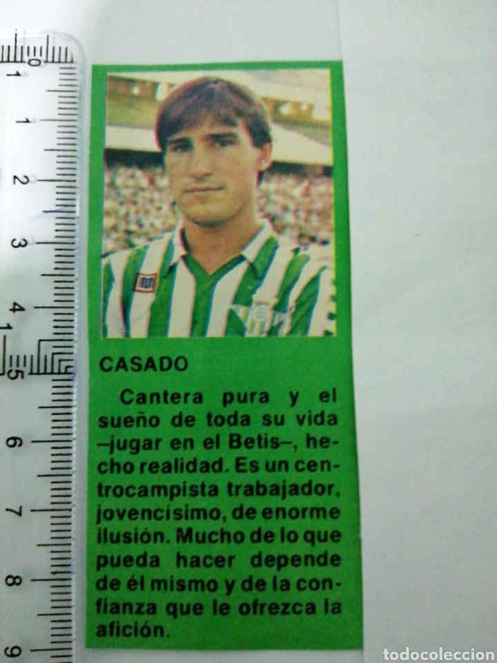 (RECORTE PRENSA ANTIGUO)JUGADOR DEL REAL BETIS CASADO CANTERA PURA DEL BETIS (Coleccionismo Deportivo - Documentos de Deportes - Otros)