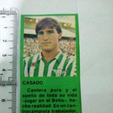 Coleccionismo deportivo: (RECORTE PRENSA ANTIGUO)JUGADOR DEL REAL BETIS CASADO CANTERA PURA DEL BETIS. Lote 194243242