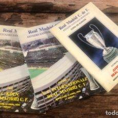 Coleccionismo deportivo: PROGRAMAS DEL REAL MADRID COPA U.E.F.A.. Lote 193996880