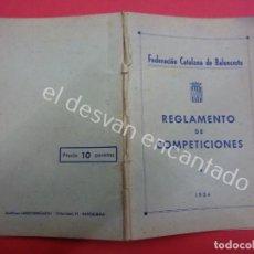 Coleccionismo deportivo: BALONCESTO. FEDERACION CATALANA. REGLAMENTO DE COMPETICIONES 1954. Lote 194602423
